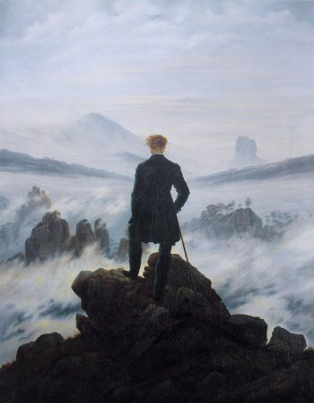 Wanderer above the sea of fog Caspar David Friedrich